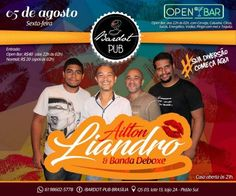 #VEJA Bardot Pub: Ailton Liandro e Banda Deboxe #agenda @paroutudo via ParouTudo http://ift.tt/2anMe8k #Raynniere #Makepeace
