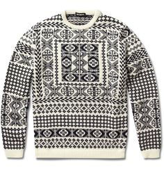 I can't even...  /Raf Simons jacquard knit sweater.