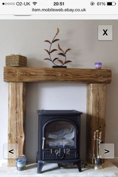 solid pine wood over mantle fireplace beam fire surround fire place Inglenook Fireplace Beam, Fireplace Surrounds, Country Fireplace, Craftsman Fireplace, Wooden Fireplace, Fireplace Modern, Inglenook Fireplace, Freestanding Fireplace, Shiplap Fireplace