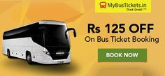 Get 50% off up to maximum Rs.50 (use offer code) on all bus ticket bookings at MyBusTickets.