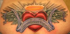 Beautiful and fantastic angles memorial theme tattoo