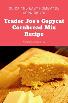 Trader Joe's Cornbread Mix Copycat Recipe is THE BEST homemade buttery cornbread recipe out there! This easy cornbread recipe is made from scratch with real corn. It is a sweet cornbread made without buttermilk. It's quick and easy and ready in under 30 minutes and can be made as muffins! This is also the perfect Thanksgiving side dish! Buttery Cornbread Recipe, Homemade Cornbread, Sweet Cornbread, Cornbread Mix, Easy Bread Recipes, Monkey Bread, Thanksgiving Side Dishes, Sourdough Bread, Recipe For 4