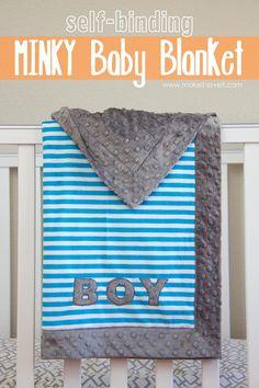 DIY Baby Blankets : DIY Self-Binding MINKY Baby Blanket