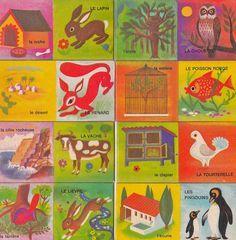 1970s crafts pinterest | Vintage 1970s Children's/Craft French Domino Logis by Pommedejour, $18 ...