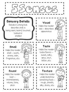 FREEBIE worksheet for sensory writing about Thanksgiving