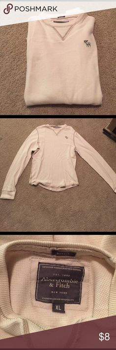 Abercrombie & Fitch Muscle Long Sleeve Muscle Men's Abercrombie & Fitch long sleeve muscle shirt in cream. In good condition. Abercrombie & Fitch Shirts Tees - Long Sleeve