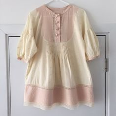 "Coachella inspired Manoush tunic Manoush Paris silk & cotton ""limbo top"" tunic in soft pink and sand, perfect for festival season. Great condition but missing label Manoush Tops Tunics"