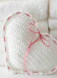 Check out this DIY heart pillow for a cute and easy wedding shower gift.