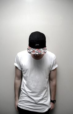Basic White T + Five Panel Hat (Similar Pins at https://www.pinterest.com/zivtzi/yeah-ill-wear-that-mens-fashion-mens-shirts-t-shir/)