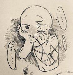 マイク買った11tさん (@11tMo4) / Twitter Anime Drawings Sketches, Animal Sketches, Kawaii Drawings, Cute Drawings, Dark Art Illustrations, Drawing Expressions, Sad Art, Cartoon Art Styles, Art Poses