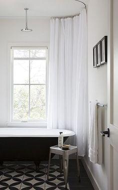 Fab Architecture, Austin TX | Attic Shower Curtain | Industrial Bathroom | Bathroom Ideas Small | Loft Bathroom | Shower Head For Sloped Ceiling | Convert Attic Into Bedroom And Bathroom. #atticbathroom #bathroomdecorideas #bathrooms