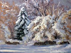 First Good Snow Painting by Armand Cabrera
