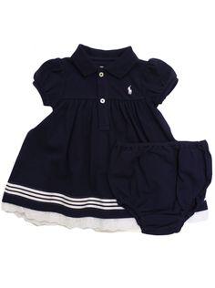 navy blue ralph lauren baby girl  dress | Ralph Lauren Kids Ralph Lauren baby girls navyshirt dress & knicker ...