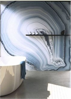 Agate wall treatment: nature's dual purpose feeding the soul and cocoon the senses.