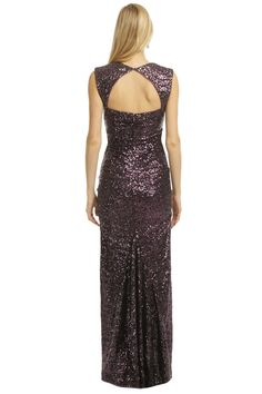 Sequin Tyrian Purple Gown by Nicole Miller for $70 | Rent The Runway