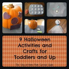9 Halloween Activities and Crafts for Toddlers and Up - The Stay-at-Home-Mom Survival Guide Halloween Activities For Kids, Halloween Crafts For Kids, Autumn Activities, Halloween Themes, Holidays Halloween, Halloween Fun, Holiday Crafts, Holiday Fun, Preschool Activities