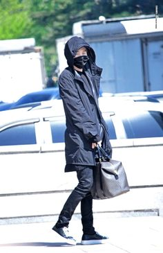 Suga and his bag ( his whole life is in his bag)