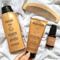 The Farmasi Keratin set Farmasi Cosmetics, After Shave Lotion, Beauty Consultant, Damaged Hair, Body Butter, Amino Acids, Beauty Makeup, Moisturizer, Frases
