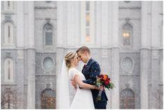 Jamie Tervort Photography, Salt Lake City Utah Temple, Bride and Groom Pictures, Bridals, Winter Wedding, Snowy Wedding