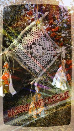 https://flic.kr/ps/2khv68 | Jazzie Menagerie's photostream  Dreamcatcher, doily, driftwood, tassels, crochet, handmade, Jazzie Menagerie, orange, jute