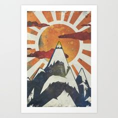 Mount Spitfire Art Print by Kardiak   Society6
