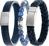 Frank 1967 7FR SET003 Armbanden Set Blauw - 3 Stuks - Sodaliet Natuursteen en Leer - One-size - Blauw Bracelets, Accessories, Jewelry, Fashion, Moda, Jewels, Fashion Styles, Schmuck, Jewerly
