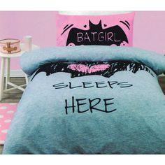 Batgirl Sleeps Here. Batgirl quilt cover set is a must for anyone that loves the superhero