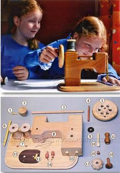 Wooden Toy Sewing Machine - Children's Wooden Toy Plans and Projects | WoodArchivist.com