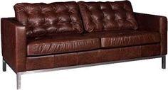 Carlton Leather Sofa Modern 3 Seater Sofa Chrome Frame