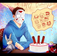 Fanart || Happy Birthday H2ODelirious!!! by FloatingMegane-san