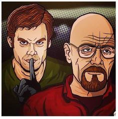 Dexter Morgan is going to kill Walter White. Breaking Bad and Dexter.