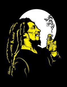 Bob Marley the King Arte Hip Hop, Hip Hop Art, Arte Dope, Dope Art, Arte Bob Marley, Reggae Art, Reggae Style, Reggae Music, Rasta Art