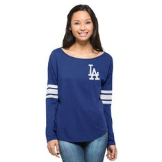 Los Angeles Dodgers '47 Women's Ultra Courtside Long Sleeve T-Shirt - Royal