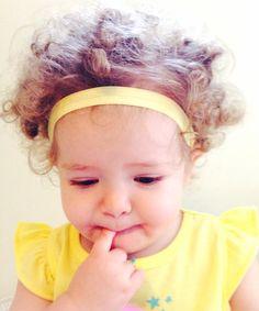 Yellow Stretch Elastic Baby Headband on Etsy, $3.00
