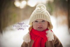winter baby girl photography www.DianaWhytePhotography.com