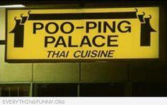 Funny Billboards poo-ping palace