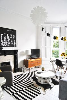sneak peek white living - Black White Living Room Decor