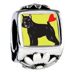 Bouvier Dog Photo Flower Charms  Fit pandora,trollbeads,chamilia,biagi,soufeel and any customized bracelet/necklaces. #Jewelry #Fashion #Silver# handcraft #DIY #Accessory
