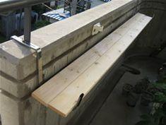 プランターハンガーを使った棚作り マンションのベランダでガーデニング!