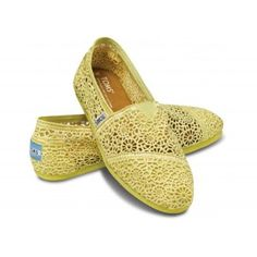 Toms Shoes Yellow crochet...I have these and I love them!