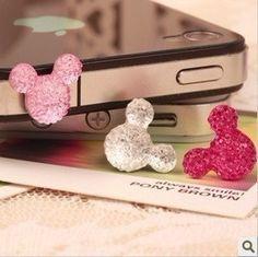cell phone charm iphone earplug dust plug charm by deephonecover, $1.99