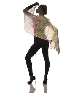 Just one ball of yarn makes a gorgeous shawl with Lion Brand Shawl in a Ball! Get the pattern now!