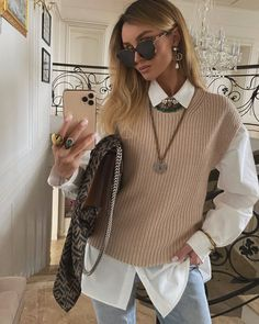 On point 👌 Adrette Outfits, Casual Fall Outfits, Fall Fashion Trends, Winter Fashion Outfits, Classy Outfits, Autumn Fashion, Dress Casual, Preppy Outfits, Bluse Outfit
