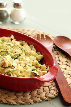 Tuna, Celery and Egg Spiralized Pasta Salad