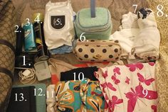 packing list for the hospital via @hollywood housewife