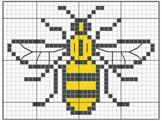 Free Manchester Worker Bee charity chart | Free Chart | Cross Stitching