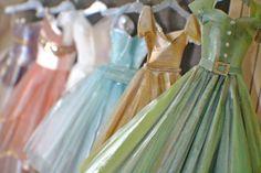 Miniature Handpainted Paper Dress First Date von LDelaney auf Etsy