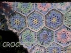 African Flower Motif Hexagon Afghan - Yahoo Image Search Results