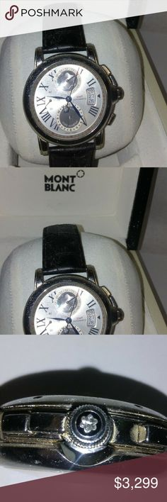796ba52aa Mont Blanc Star 100 Y Steel Collection Chrono GMT Mont Blanc Star 100 Y  Steel Collection