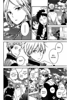 Hehe Obi, and  Shirayuki hiding. Akagami no Shirayukihime Manga